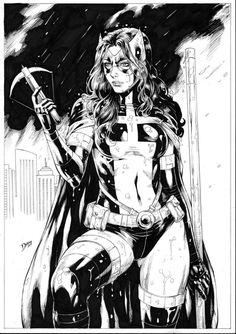 Huntress by Deilson on DeviantArt Dc Comics Characters, Dc Comics Art, Comics Girls, Comic Book Artists, Comic Books Art, Comic Art, Comic Book Girl, Batman Art, Batman And Superman