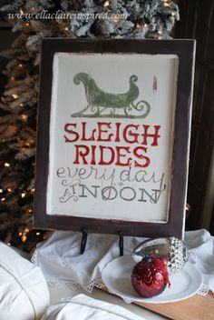 Sleigh Rides Christmas Sign - Sweet C's Designs