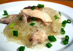 Crock Pot Chicken Long Rice - Throw it all in the pot and forget about it!