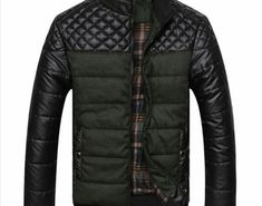7e45335dfe2 Hot Offer Mountainskin Brand Men s Jackets and Coats PU Patchwork Designer Jackets  Men Outerwear Winter Fashion Male Clothing