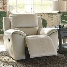 Ashley Valeton Zero Wall Recliner in Cream ** Be sure to check out this awesome product. (This is an affiliate link)
