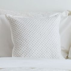 Cross stitch accent pillows, Little Auggie