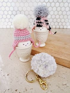 Shop Nikita Blog: Easter Treats: Crocheted Beanie Egg Cosies and Pom...