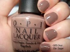 OPI over the taupe nail polish.  So many cute browns for fall!  It took me forever to decide on this one.