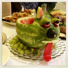 watermelon dog carving - Google Search