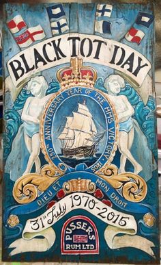 Black Tot Day Poster 45th Anniversary