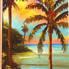 Art Paintings, Florida Inspirations, Palms Trees, Highwaymen Paintings, Crafts Inspiration, Trees Paintings, Florida Highwaymen Artwork, Tree Paintings