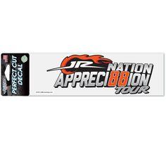 Dale Earnhardt Jr. WinCraft JR Nation Appreci88ion Tour 3'' x 10'' Perfect Cut Decal