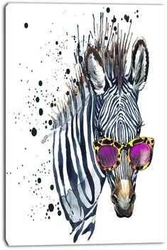 Funny zebra and ice cream T-shirt graphics, Funny zebra illustration with splash watercolor textured background. illustration watercolor Funny zebra fashion print, poster for textiles, fashion design Arte Zebra, Zebra Kunst, Zebra Art, Zebra Illustration, Watercolor Illustration, Funny Illustration, Canvas Art Prints, Painting Prints, Watercolor Paintings