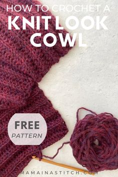 Today's free crocheted cowl pattern, the Easy (and beautiful) Go-To Cowl, can be seen by scrolling down. You may also choose to purchase the ad-free printable PDF from Etsy here. Enjoy! Members… More Ribbed Crochet, Crochet Baby, Free Crochet, Beginner Crochet, Crochet Basics, Crochet Scarves, Crochet Doilies, Crochet Hooks, Knitted Poppy Free Pattern