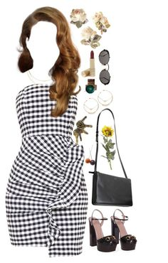 """""""♥California never felt like home♥"""" by katherinethecat ❤ liked on Polyvore featuring Gucci, Pier 1 Imports, Tiffany & Co., MANIAMANIA, Jean-Paul Gaultier, Estée Lauder, simpleset, contestentry and under100"""