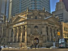 Hockey Hall of Fame  Toronto, ON, Canada.  Formerly a bank building, reputed to be haunted.