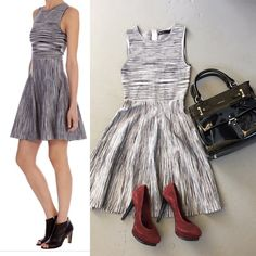 Karen Millen knit fit and flare dress size 1 In great condition Karen Millen Dresses