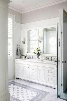 Amazing 46 Excellent Master Bathroom Renovation Ideas https://kindofdecor.com/index.php/2018/05/28/46-excellent-master-bathroom-renovation-ideas/