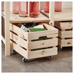 Great idea for under Ikea ivar shelves - Ikea DIY - The best IKEA hacks all in one place