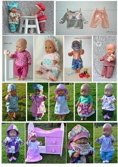 37 Schnittmuster Gr: 43cm Puppen - Puppenkleidung - Nähanleitungen bei Makerist