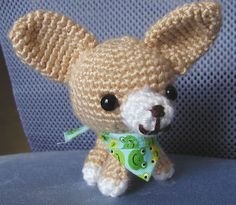 Chihuahua Amigurumi - CROCHET Teddy Bear Patterns Free, Crochet Dog Patterns, Crochet Teddy Bear Pattern, Amigurumi Patterns, Cute Crochet, Crochet Crafts, Crochet Dolls, Crochet Projects, Stuffed Animal Patterns