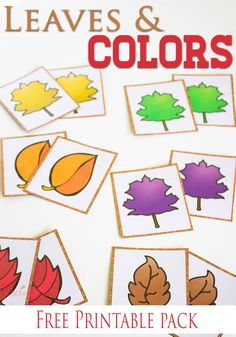 Free Fall Colors Printable Activities for Preschoolers Three free printable fall leaves & colors activities for preschoolers. Fall Activities For Toddlers, Thanksgiving Activities For Preschool, Preschool Color Activities, Preschool Theme Fall, Fall Crafts For Preschoolers, Learning Activities, September Preschool Themes, Colors For Toddlers, September Themes