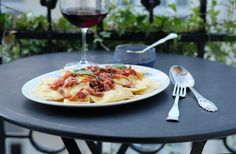 """""""Ravioli with potato filling, bacon and sage"""" by @helleskitchen"""