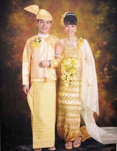 Myanmar's traditional costume is a wrap-around skirt, known as Longyi for men and Tamain for women.