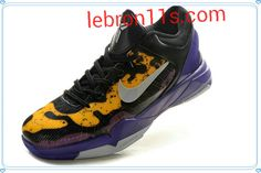 Lebron11s.com Wholesale Kob 7 VII,Nike Kobes,Kobe Shoes 2012 Poison Dart Frog Lakers Court Purple Wolf Grey Black Tour Yellow 488371 500 Discount To $64.48