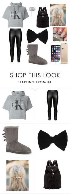 """""""Untitled #122"""" by arianagrande-765 on Polyvore featuring Calvin Klein Jeans, Studio, UGG Australia, Beats by Dr. Dre, claire's and Prada"""