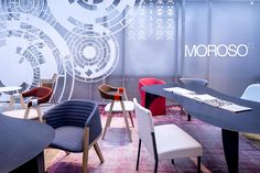 #Moroso Orgatec 2014 Conference Room, Dining Chairs, Table Decorations, Furniture, Design, Lighting, Home Decor, Decoration Home, Room Decor