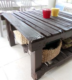 Rustic Upcycled Pallet Potting Table by Matt Rivera Handmade Woodworking on Scoutmob Shoppe