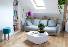 Una bella zona living arredata recuperando mobili #vintage