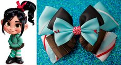 """Sugar Rush Racer Inspired Bow / Vanellope Von Schweetz - """"I know I'm a racer, I can feel it in my code."""". $9.50, via Etsy."""