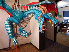 Large Paper Mache Dragon Tutorial