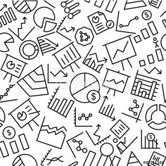 """Download the royalty-free vector """"Business and Finance Hand Drawn Outline Icon Pattern """" designed by Educester at the lowest price on Fotolia.com. Browse our cheap image bank online to find the perfect stock vector for your marketing projects!"""
