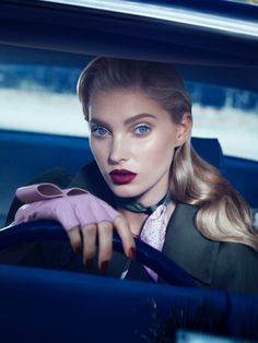 Model Elsa Hosk has a face made for the movies in the December 2016 issue of Vogue Mexico. The Victoria's Secret Angel poses in beauty looks inspired by iconic director Alfred Hitchcock's films. Photographed by Yulia Gorbachenko, Elsa enchants with glossy lip colors, 50's inspired hairstyles and perfectly manicured nails. Stylist Anna Katsanis (Atelier Management) …