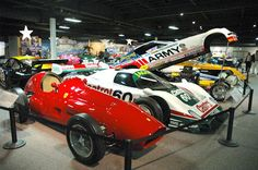 Classic race cars at the National Automobile Museum in Reno, Nevada, NV.