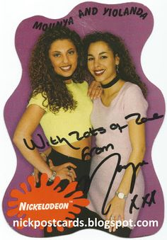 Postcards From Planet Nickelodeon: Mounya and Yiolanda (Autographed)