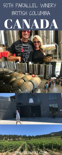 """""""Glamour Farming"""" at 50th Parallel Winery in British Columbia's Okanagan Valley, Canada."""