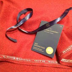 Compagnia dei Colletti. Bespoke shirting in Rome. Holland & Sherry. Sherry Tweed. Lambswool with Silk.