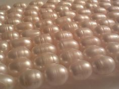 Cultured Freshwater Pearl Beads Creamy White Rice by PriorityBeads