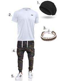 Du suchst ein #sportliches #Outfit, aber eines mit #Style? Dann ist dieses #bestimmt das #Richtige für dich. Die #Cargo #Jogg-#Jeans #Hose in #Camouflage #optik und das #Survival #Outdoor #Nylon #Armband sind #optisch aufeinander #abgestimmt. Ebenso bieten die #weißen Schuhe und das #shirt einen tollen #Kontrast.   1. http://amzn.to/2t8u9DI 2. http://amzn.to/2tbnDMy 3. http://amzn.to/2tLjnAZ 4. http://amzn.to/2scToQV 5. http://amzn.to/2scKAKL  #Freizeit #Beanie #Freizeitmode #Sport #Fashion…
