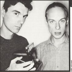 """David Byrne and Brian Eno. Taking a stance!  Read Brian's editorial """"Gaza and the loss of civilization"""" at davidbyrne.com"""