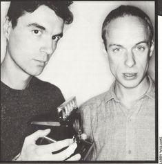 Brian Eno + David Byrne in the 1970s