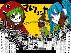 Matryoshka, vocaloids Miku and Gumi. I really like utaite Glutamine's version.