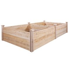 Stackable and expandable, this Greenes Fence Cedar Raised Garden Bed lets you grow all your favorite plants, vegetables and herbs. Wood Raised Garden Bed, Raised Garden Planters, Elevated Garden Beds, Cedar Garden, Cedar Fence, Terrace Garden, Wood Fence Design, Garden Bed Layout, Garden Frame