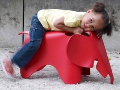 Cute kid's chair. #red #baby #nursery