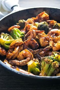 Browned Honey Garlic Shrimp with tender broccoli is a super easy dinner that packs a wallop of flavor with simple, common ingredients.