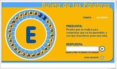 """La ruleta de las palabras"" (Juego de Lengua Española de Primaria) Anaya, Chart, Editorial, Alphabetical Order, Phonological Awareness, Spanish Language, Teaching Resources"