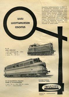Valmetin veturimainos #veturit #junat #Erva-Latvala #train #locomotive #railroad