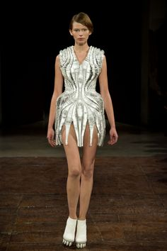 Haute Couture | Iris van Herpen - Some inspiration for my first exploration: transparent, mirrors, transforming, reflection, light