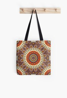 'Boho Ethnic Pattern' Tote Bag by SoccaTamam Paisley Pattern, Pattern Art, Paisley Print, Large Bags, Small Bags, Throw Pillows, Throw Blankets, Floor Pillows, Psychedelic Pattern