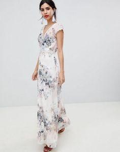 Little Mistress - Robe longue boutonnée sur le devant à imprimé fleuri romantique